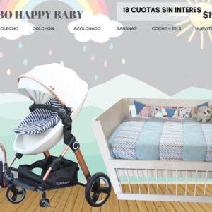 COMBO HAPPY BABY COLECHO + COCHE 4 EN 1